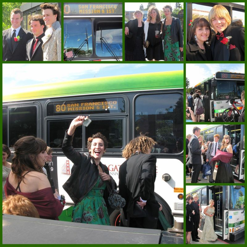 Prom bus collage