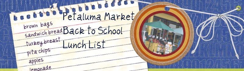 Petaluma market collage