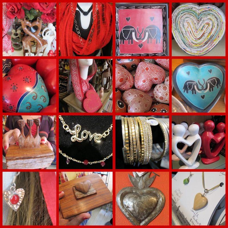 One Planet Valentine collage