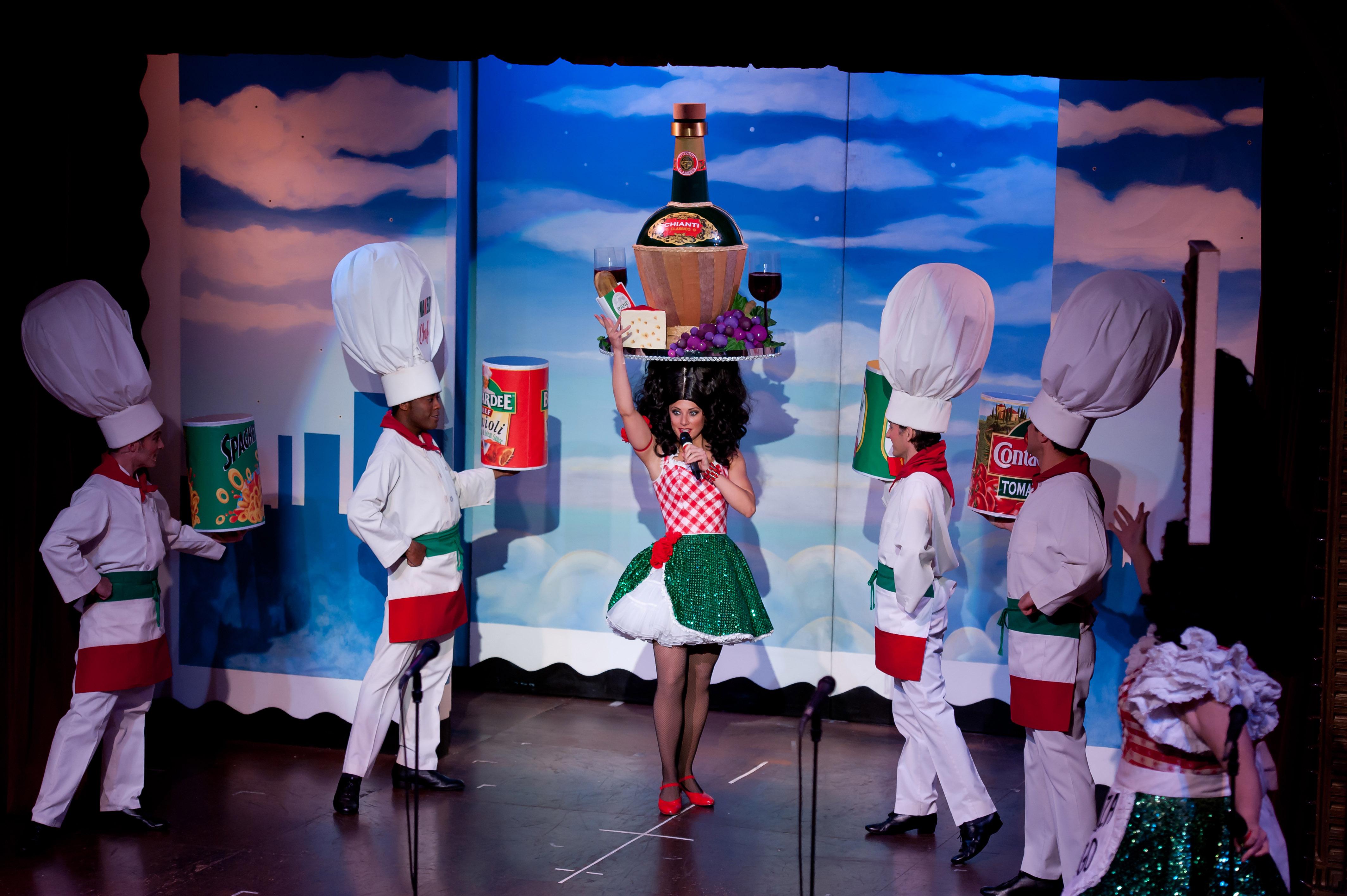 Beach Blanket Babylon Hair Spectacular Holiday Show San Francisco Skyline Hat 1mb Be Italian