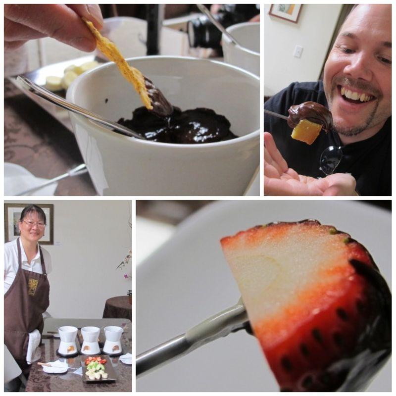 Viva cocolat Taste of Petaluma collage