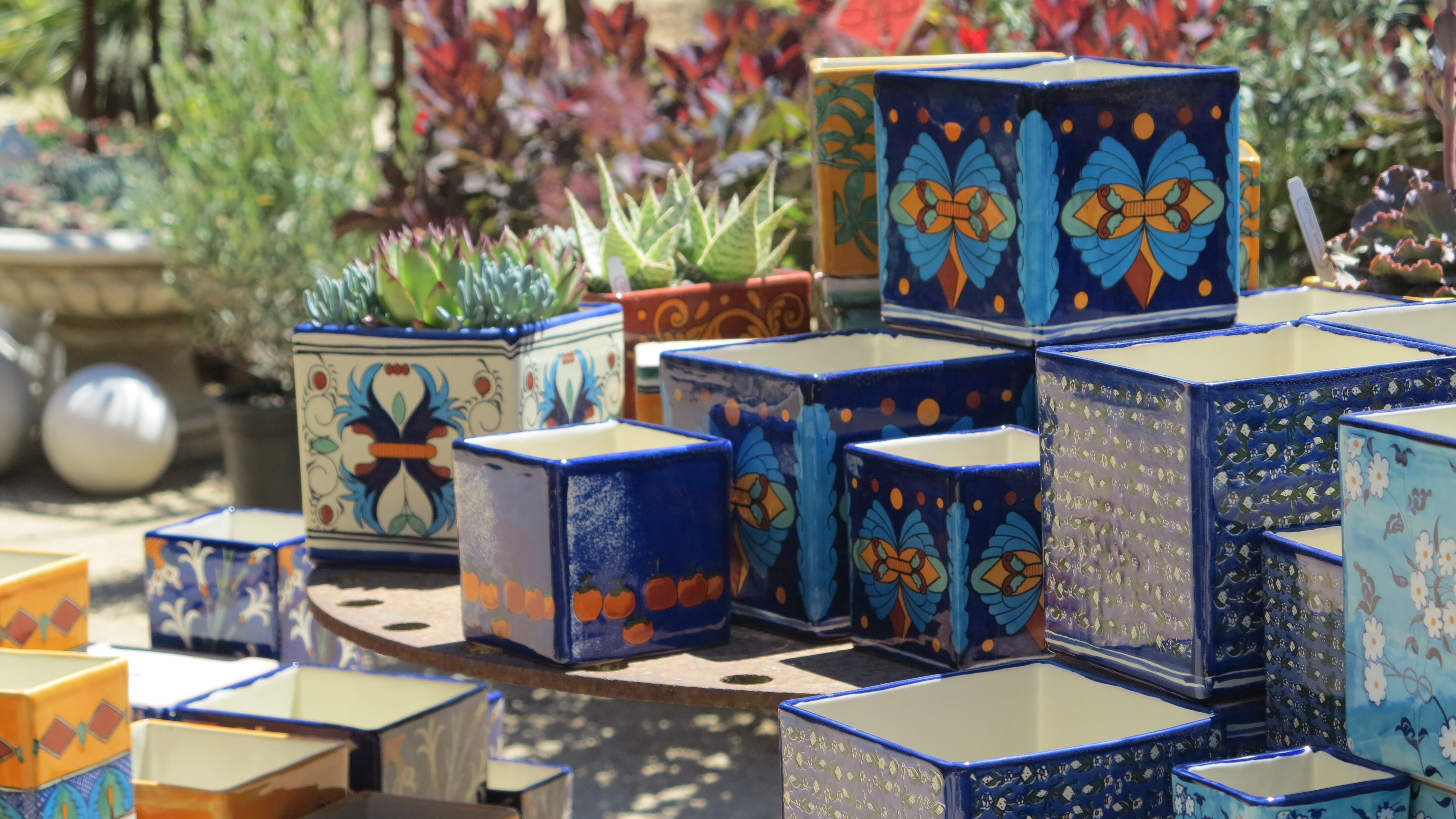 Though We Loved The Colors And Designs Of These Gorgeous Planters At Cottage  Gardens Of Petaluma, Dom And I Had Already Scored Bargain Buys Of  Intriguing ...