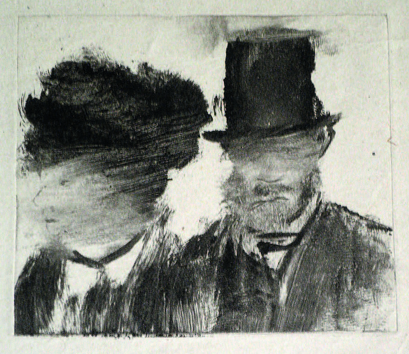 43_degas mono_Heads of a Man and Woman
