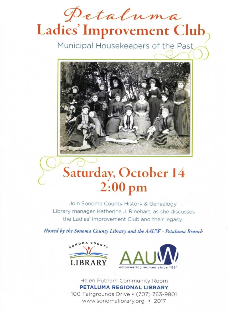 Oct 14  2017 presentation at Petaluma Library