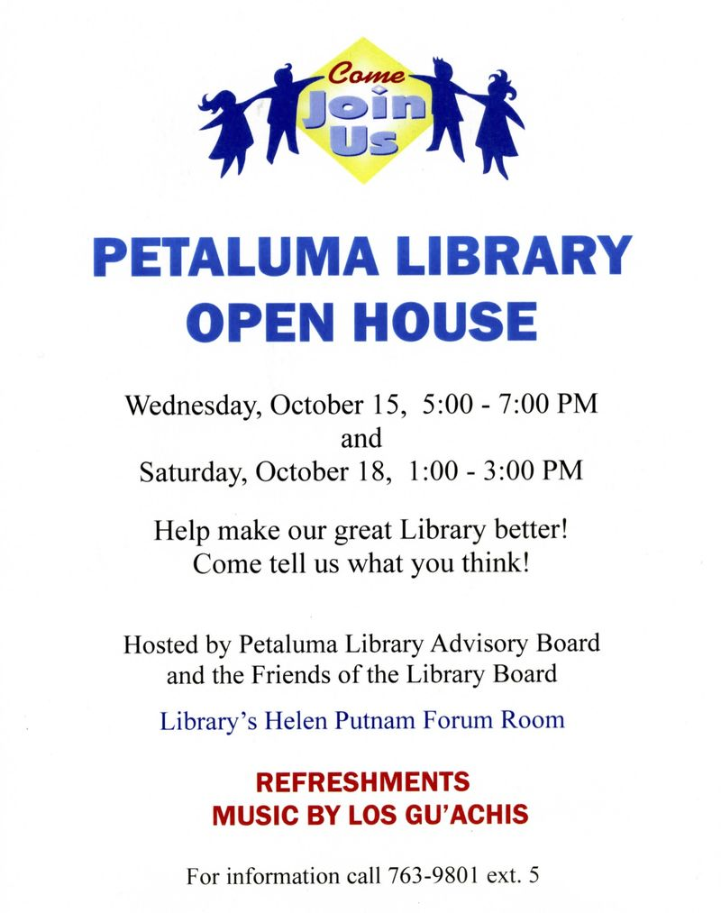 Petaluma Library Open House flyer016