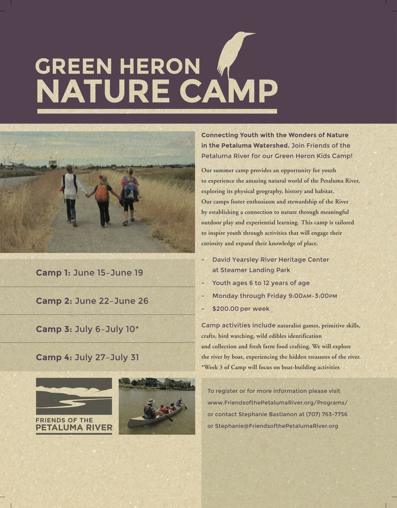 Green Heron Nature Camp - 2015 Flyer