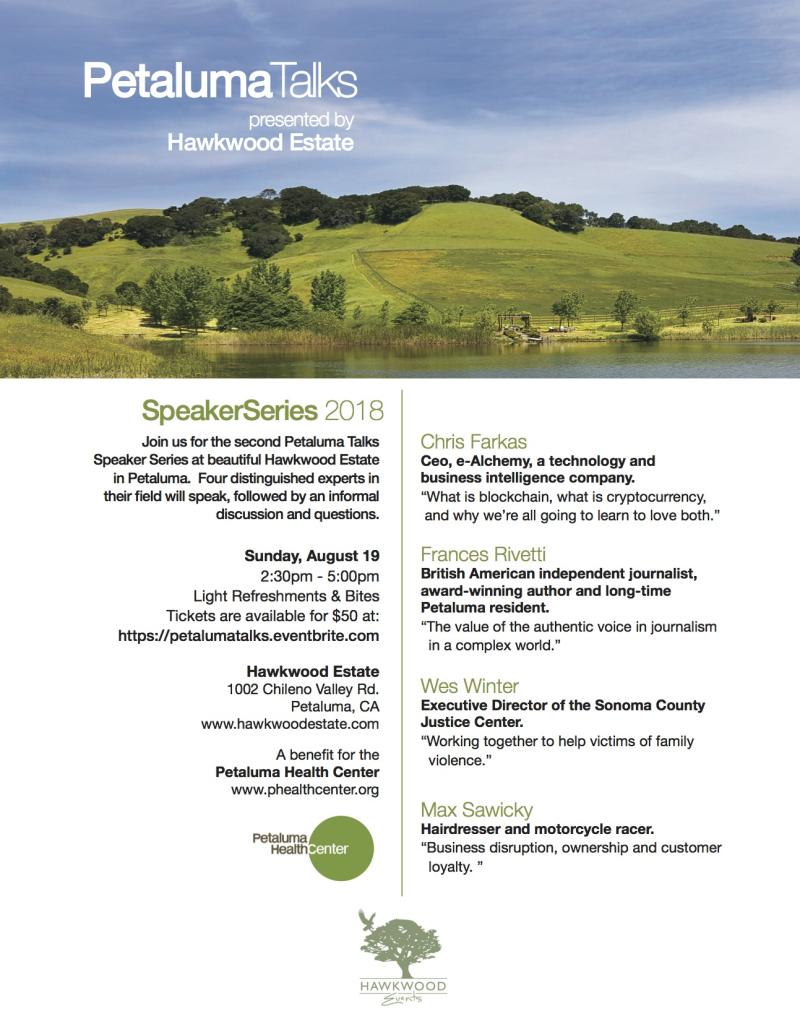 Petaluma Talks@ Hawkwood Hill August 19 2018 (1)