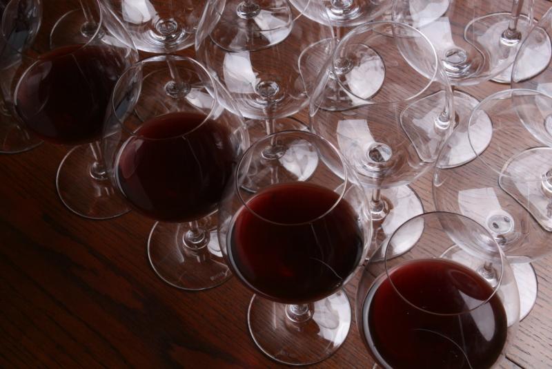 Wineglasses full top view
