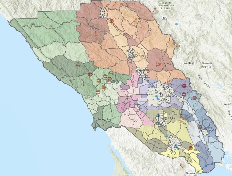 Map of zones